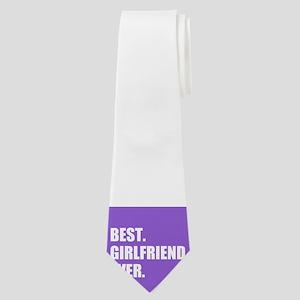 Best Girlfriend Ever purple Neck Tie