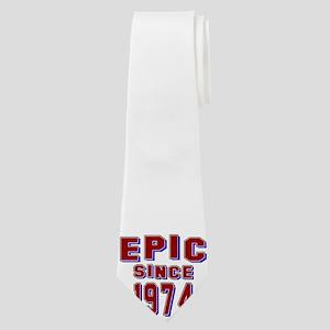 Epic Since 1974 Birthday Designs Neck Tie