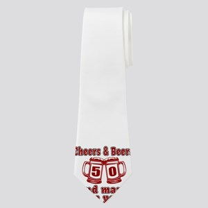 Cheers And Beers 50 And Many More Years Neck Tie
