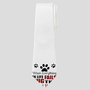Hug The Basset Hound Neck Tie