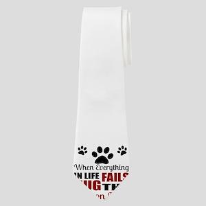 Hug The Bichon Frise Neck Tie