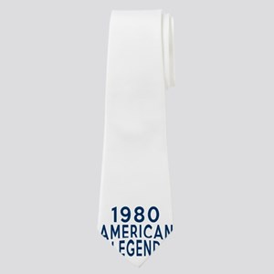 1980 American Legend Birthday Designs Neck Tie