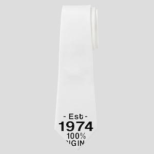 Est.Since 1974 Neck Tie