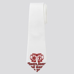 02 Cheers Beers And Many More Years Neck Tie
