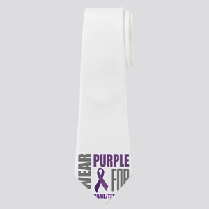Purple Awareness Ribbon Customized Neck Tie