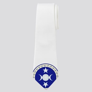 Triple Moon Goddess in Off-White Neck Tie