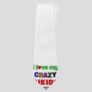 I Love My Crazy Aikido Brother Neck Tie