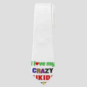 I Love My Crazy Aikido Sister Neck Tie