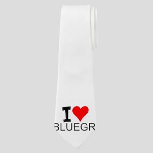 I Love Bluegrass Neck Tie