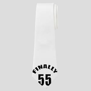 Finally 55 Birthday Designs Neck Tie