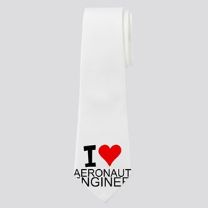 I Love Aeronautical Engineering Neck Tie