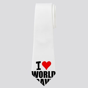 I Love World Travel Neck Tie