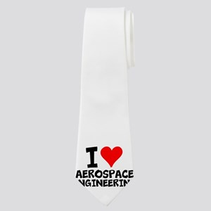 I Love Aerospace Engineering Neck Tie