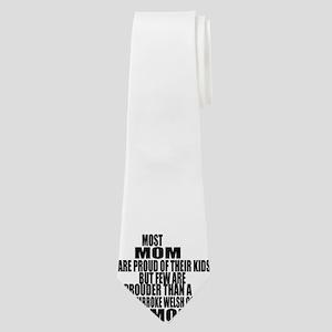 pembroke welsh corgi Dog Mom Neck Tie