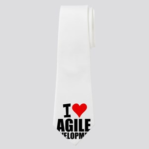 I Love Agile Development Neck Tie
