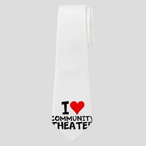 I Love Community Theater Neck Tie