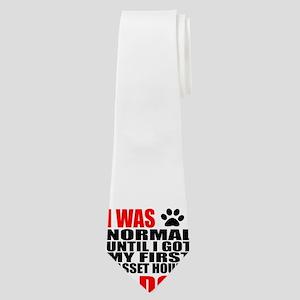 My First Basset Hound Dog Designs Neck Tie