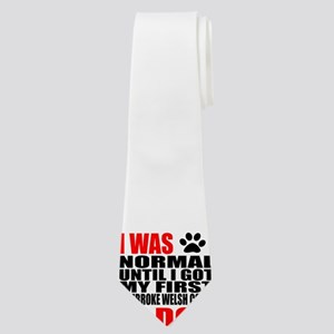 My First pembroke welsh corgi Dog Designs Neck Tie