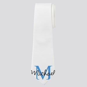 Personalize Iniital, and name Neck Tie