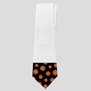 Basketball pattern Neck Tie