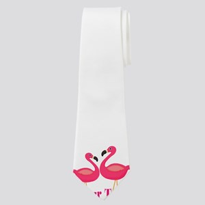 Personalizable Pink Flamingoes Neck Tie