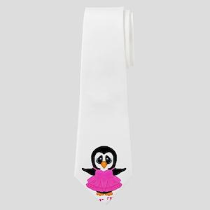 Personalizable Penguin in Pink Neck Tie