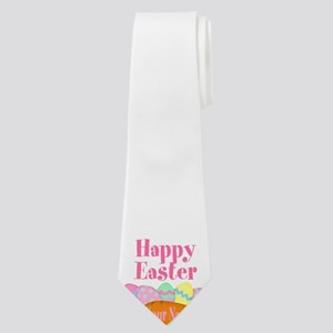 Happy Easter Carrot and Eggs Neck Tie