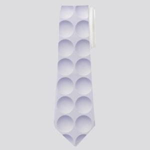 Circle Impression Neck Tie