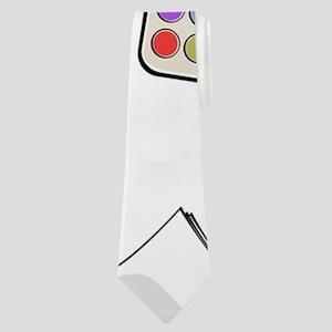 School Debris Neck Tie