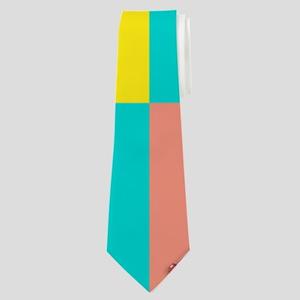 School Supply Grid Neck Tie