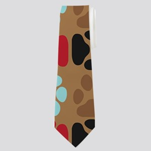 Pawprint Puppy Pattern Neck Tie