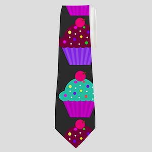 Yummy Sweet Cupcake Pattern Neck Tie