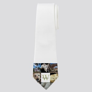 Photo Block with Monogram and Name Neck Tie