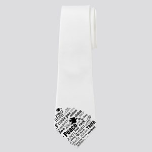 PEACE in different languages Neck Tie