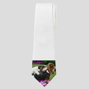 basset hound valentines Neck Tie