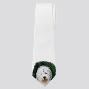old english sheepdog portrait Neck Tie
