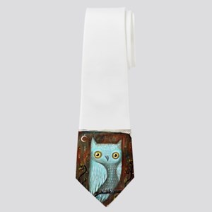 Owl on Brown Sky Neck Tie
