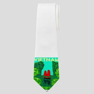Ha Long Bay - Vietnam Print Neck Tie