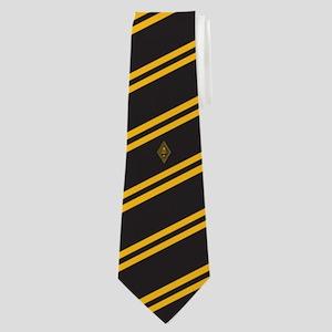 Zeta Beta Tau Fraternity Badge in Yellow Neck Tie