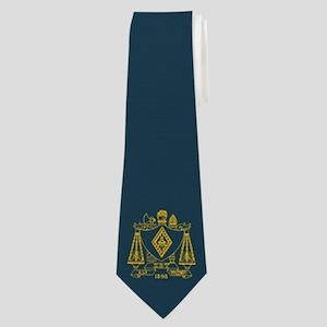 Zeta Beta Fraternity Crest in Yellow with Neck Tie