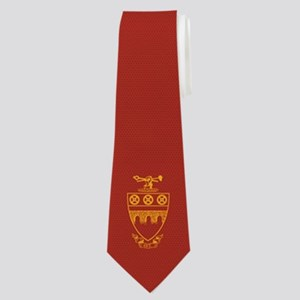 Theta Tau Fraternity Crest in Yellow with Neck Tie