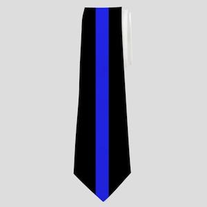 Thin blue Line Neck Tie