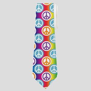 Hippy Peace Polka Dot Neck Tie