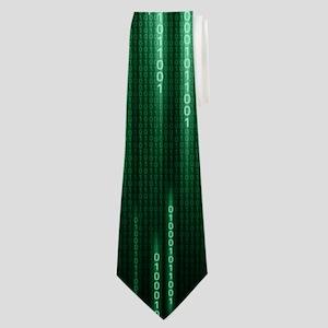Green Binary Rain Neck Tie