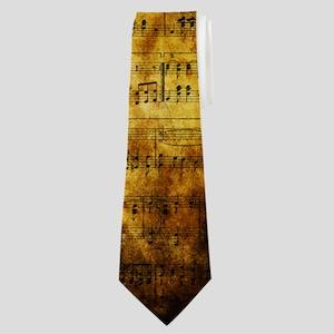 Old Music Sheet Neck Tie