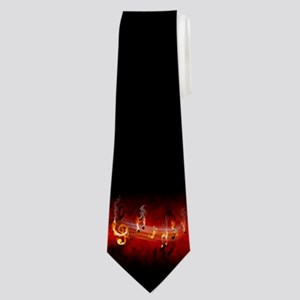 Hot Music Notes Neck Tie