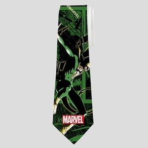 Iron Fist Panels Neck Tie