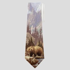 Grizzly Bear Landscape Neck Tie