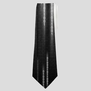 Grey Binary Rain Neck Tie
