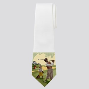 Golf Game Neck Tie